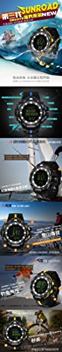 Weather Forecast Altimeter Barometer Thermometer Outdoor Women Watches Compass Waterproof Fishing Watch Men FR861B by YARUIFANSEN