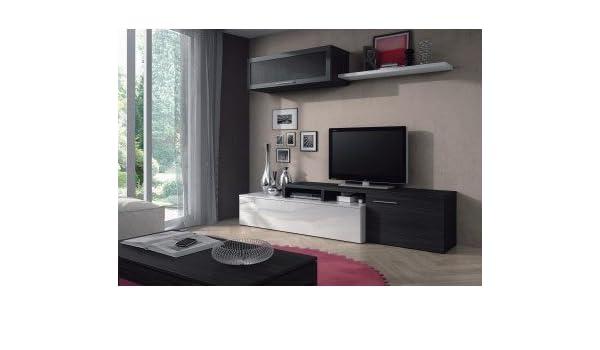 MUEBLES MATO - Mueble de Salon Nexus Blanco Brillo y Gris ...