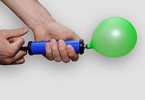 Ball Pump for Exercise Ball - Needle Kit Inflates Any Gym Yoga Ball Pump - Small Beach Ball Pump Kit - Ballon Pump 8 inch - Rubber Medicine Ball Pump Adaptor - Air Pump Hose Extension Schrader Tire