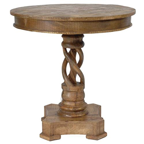 Crestview Collection Bengal Manor Mango Wood Twist Accent Table