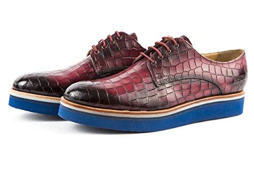 Melvin & Hamilton - Zapatos de cordones de charol para mujer rojo rojo 37