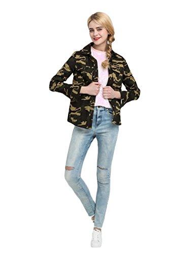 - haoduoyi Women Military Camouflage Jacket Denim Coat (XXL)