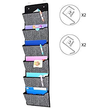Onlyeasy Over Door Hanging File Organizer - Office Supplies Storage Holder Wall Mount Pocket Chart for Magazine Notebooks Planners File Folders ...  sc 1 st  Amazon.com & Amazon.com: Homyfort Over the Door Hanging File Organizer Office ...