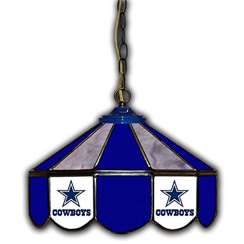 Dallas Cowboys 14-In. Stained Glass Pub - Cowboys Dallas Stained Glass