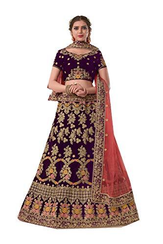 FourCorners2013 Indian Women Designer Partywear Ethnic Traditional Maroon Lehenga Choli.