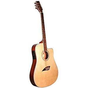 kona thin body acoustic electric guitar spruce w musical instruments. Black Bedroom Furniture Sets. Home Design Ideas