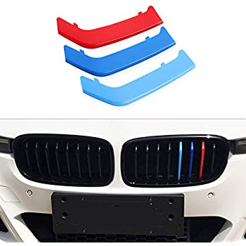 11 Grilles For BMW 5 Series E60 525i 528i 530i 535i 545i 550i 2004-2010 M Color Front Grille Grill Cover Insert Trim Clips 3Pcs