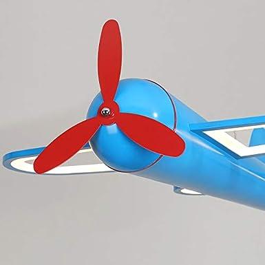 Araña de luces Azul Y la lámpara de techo for niños de dibujos animados amarillos de la lámpara Aviones dormitorio de la lámpara creativa del avión for chicos Colgante de luz (Color :