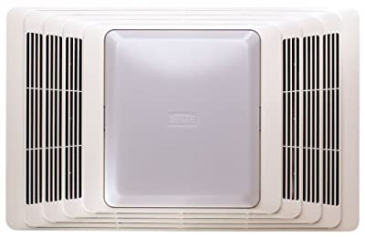Broan Fan and Light with Acoustic Insulation, 100 CFM 4.5 Sones, White Grille