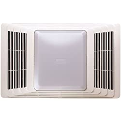 Broan 696 Fan and Light with Acoustic Insulation, 100 CFM 4.5 Sones, White Grille