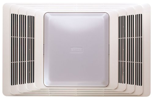Broan-Nutone 696 Ceiling Exhaust Fan and Light with Sound-Absorbent Acoustic Insulation for Bathroom and Home, 100-Watts, 100 CFM
