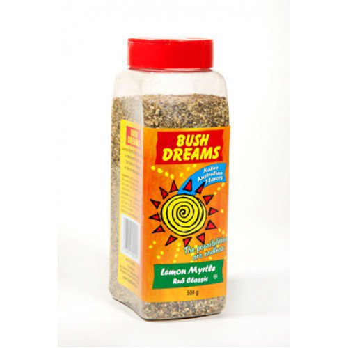 Bush Dreams Lemon Myrtle Rub Seasoning - 500g (Pack of 4)
