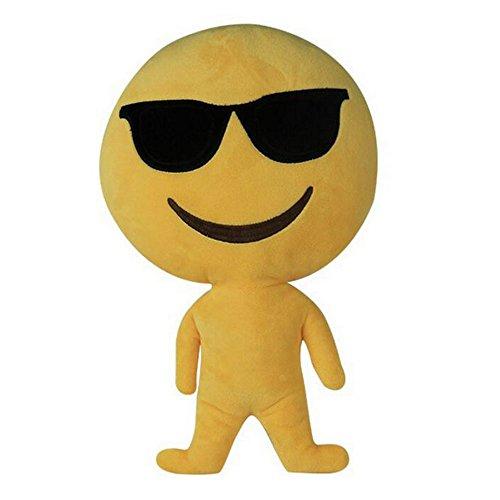 "Vococo 6 styles Emoji Emoticon Cushion Pillow Stuffed Plush Toy Doll 13.8"" Throw pillows Humanoid doll - Za Sunglasses"
