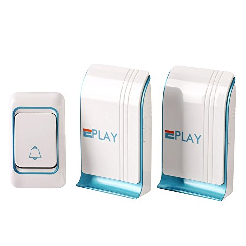 Wireless Doorbell Kit EplayTek One Push Button & Two Receiver (1000 Feet Distance ) Wireless Doorbell Kit With 36...