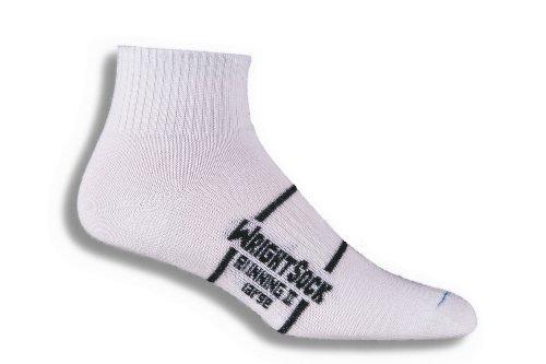 WrightSock Double Layer Anti Blister Running II Quarter Socks - 2 Pack, Large