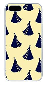 iCustomonline The Woman In White Dress Hard Soft Silicone Back Case Cover Fit For iPhone 5 5S