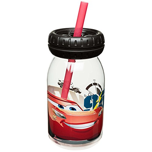 (Zak Designs CRSG-S590 Cars 3 Toer Tumbler, 16 oz, Multicolor)