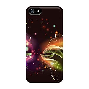 Hernandezz Zfm805BZFU Case Cover Skin For Iphone 5/5s (elektric Butterfly Desktop Background)