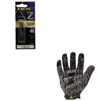 KITEPIXZ211IRNBHG04L - Value Kit - X-acto Z Series 11 Replacement Blades (EPIXZ211) and IRONCLAD PERFORMANCE WEAR Box Handler Gloves (IRNBHG04L) ()