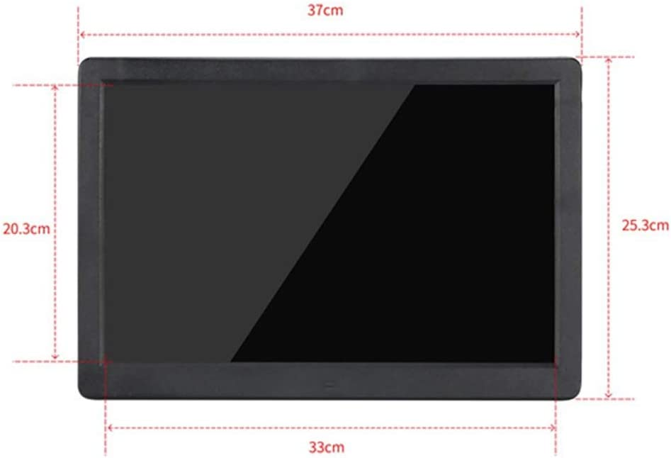 YTBLF Digital Photo Frame 15.4-inch Double-Sided Screen MP3 1080P Video USB SD Slot with HDMI Input Video Player 16:10 IPS Display