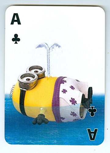 Despicable Me Minion trading game card Ace Clubs 2x4 floating