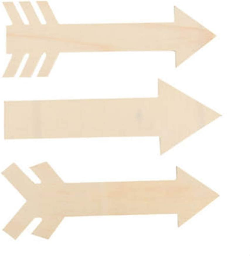 Craft Wood Arrows 8cm or 3-18-Inch 12-Count Natural