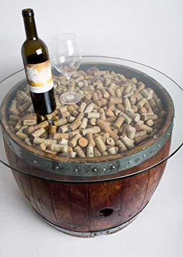 Amazon Com Wine Barrel Coffee Table With Cork And Glass Top Choice Of Finish Handmade