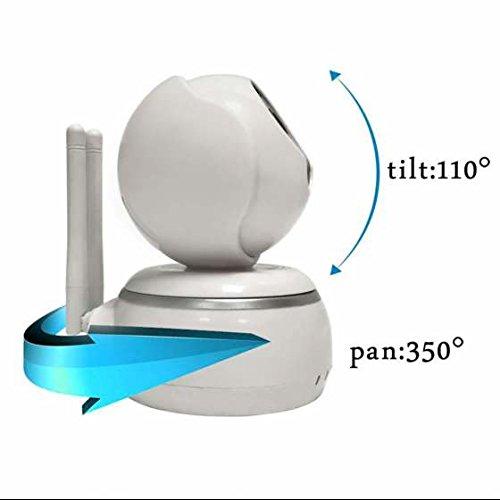 Kugel ip kamera Alarmanlagen Überwachungskamera Hohe AuflöSung Schwenkbare Ir Monitor ,Audio zum Gegensprechen ,HD 720p Netzwerk-Camera mit Zweiweggespräch Nachtsicht bis zu 30ft Fernzugriff mit QR-Code scannen