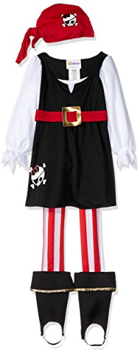 Pirate Baby Girl Costumes (Precious Lil' Pirate Girl's Costume,Toddler L (4-6) , One Color)
