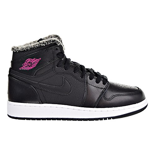 Jordan Air 1 Retro High GG Big Kids Shoes Black/Deadly Pink/White 332148-014 (6 M US)