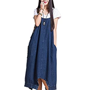 Hulaha Womens Denim Dress Casual Overall Pants