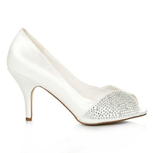 Tacón Con Diva Zapatos Miss Marfil Mujer qHtawA5AdE