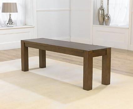 Dorset oscuro sólido roble comedor muebles mesa de comedor banco ...