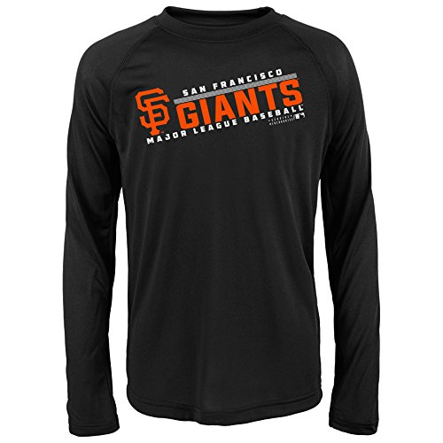 Giants Long Sleeve - Outerstuff MLB Youth 8-20 SF Giants performance Long sleeve Tee, Xl(18), Black