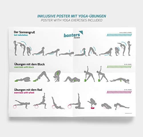 banters Rueda de Yoga y Pilates Natural de Corcho - Incluye ...