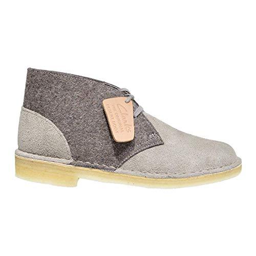 CLARKS Originals Desert Boot Women's Suede Felt Chukka Shoe (8.5M) Grey