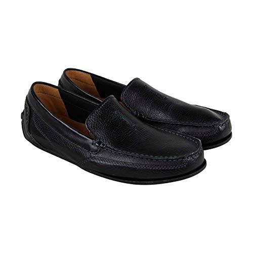 Clarks Men's Benero Race Driving Style Loafer, Black Leather, 7 M US (Mens Slides Clarks)