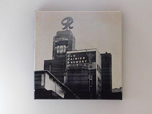 Seattle Rainier Brewery B/W on Canvas + FREE (Alchemy Canvas)