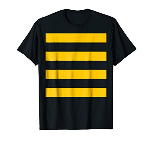 Bee Halloween DIY Costume Shirt - Yellow Stripes on Black]()