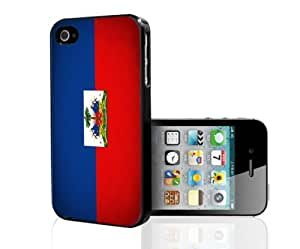 Haiti Flag Red Blue and White Hard Snap on Cell Phone Case Cover iPhone 4 4s