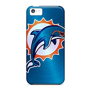 Scratch Resistant Hard Cell-phone Cases For Iphone 5c With Allow Personal Design Stylish Miami Dolphins Series TimeaJoyce