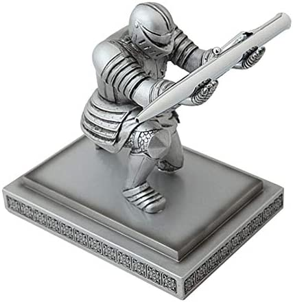 quanzhoushiMatt Gibbon Knight Pen Holder, Resin is Suitable for Desktop Storage, Cool Decorations, Suitable for Office and Home Study Room to Send Friends Gifts