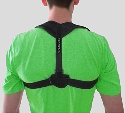 PLYO-TEC Premium Back Support Posture Corrector Brace Trainer for Men & Women