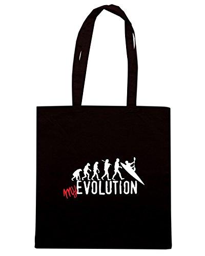 T-Shirtshock - Bolsa para la compra T0695 my evolution canoa Negro