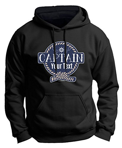Customized Birthday Gift Boaters Personalized Boat Captain Sailing Boating Custom Premium Hoodie Sweatshirt Large Black