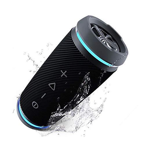 TREBLAB HD77 Premium Bluetooth Speaker - Loud 360° HD Surround Sound, Wireless Dual Pairing, 25W Powerful Bass, 20H Battery, Best for Outdoor Sports - True IPX6 Waterproof, Portable Blue Tooth