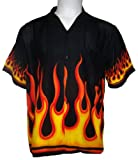 Button Down Orange/Yellow Flames Shirt