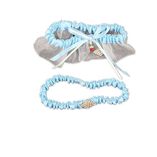 trlyc cristal boda Liga de encaje de novia/boda elástico para Liga Conjunto