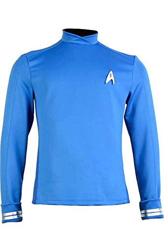 CosplaySky Star Trek Costume Beyond Science Officer Uniform Spock Shirt XXX-Large (Star Trek Movie Blue Shirt Adult Costume)