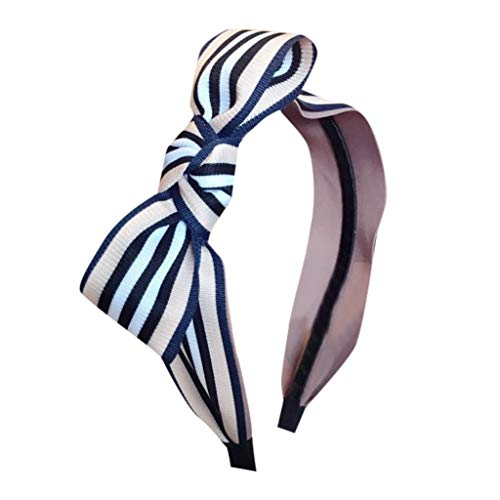 HADIY Stripes Headband Simple Temperament Wide Turban Hair Band Accessories for Women and Girls ()